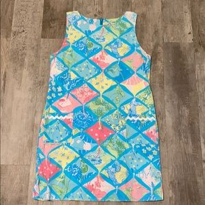 LILLY PULITZER CLASSIC PATCHWORK MULTI SHIFT DRESS